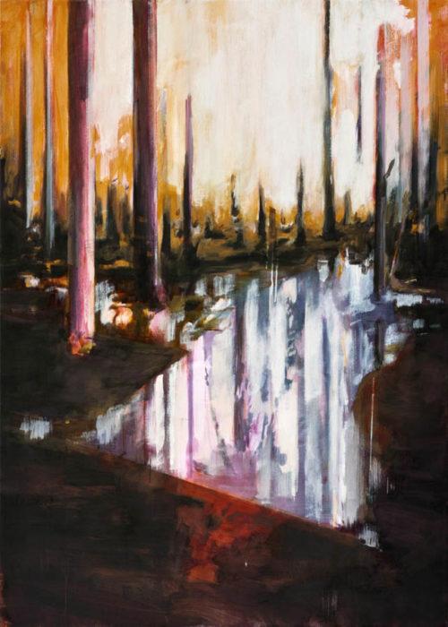 Lightning, 100 x 140 cm, olieverf op linnen, 2011