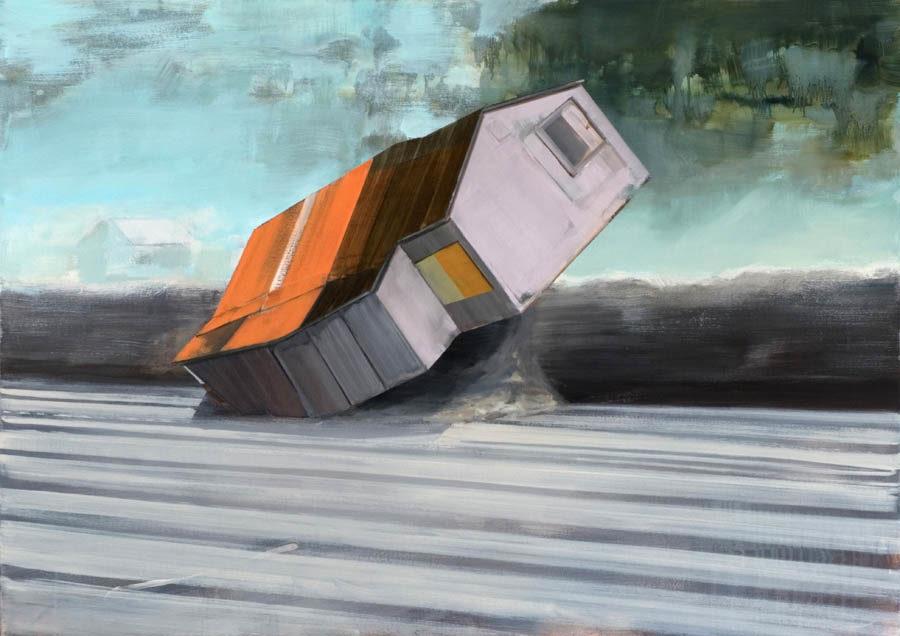 Tumble 100 x 140 cm olieverf op linnen 2009