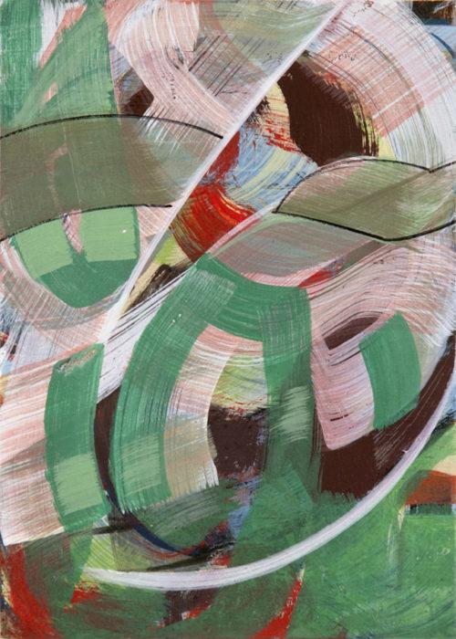 acrylverf en ei-tempera op paneel